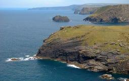 Cornwall kust Arkivbild
