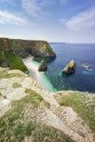 Cornwall kust- landskap Arkivfoto