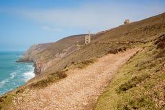 Cornwall kustbana och tenn- min England UK Royaltyfria Bilder