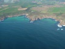 Cornwall kustlijn Stock Foto's