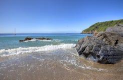 Cornwall kustlijn, Engeland Royalty-vrije Stock Afbeelding