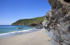 Cornwall kustlijn, Engeland Stock Foto