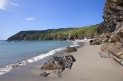 Cornwall kustlijn, Engeland Stock Afbeeldingen