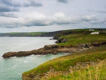 Cornwall kustlinje arkivfoton