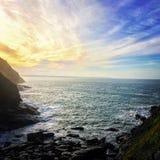 Cornwall kustlinje Arkivfoto