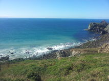 Cornwall linia brzegowa Zdjęcia Royalty Free