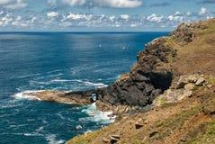 Cornwall North Coast near Botallack United Kingdom. Coastal path near Botallack Cornwall Stock Images