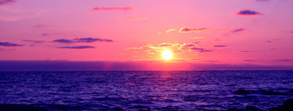 Cornwall Sunset. A sunset over the Atlantic ocean taken from the Cornish coastline royalty free stock photography