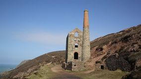 Cornwall tin mine England UK stock video