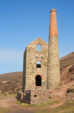 Cornwall Tin mine England UK near St Agnes Beacon Royalty Free Stock Photo
