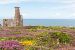 Cornwall tin mine ruins Royalty Free Stock Image