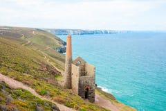 Cornwall tin mine ruins Royalty Free Stock Photos