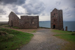 Cornwall: Wheal Coates. Wheal Coates old mine in Cornwall, England Royalty Free Stock Images
