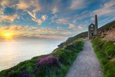Cornwall wybrzeże zdjęcie royalty free