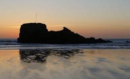 Cornwall zonsondergang Stock Foto