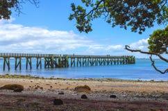 Cornwallis Wharf Auckland New Zealand. Beach and Park Stock Image