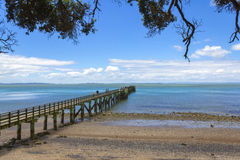 Cornwallis Wharf Auckland New Zealand. Beach and Park Royalty Free Stock Photography