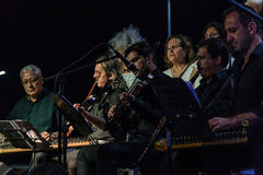 Coro da música clássica de centro de ensino público Imagem de Stock