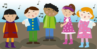 Coro das crianças Fotos de Stock Royalty Free