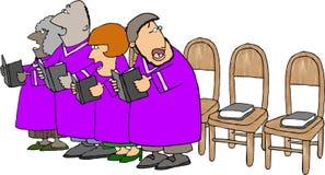 Coro de la iglesia con los miembros que falta stock de ilustración