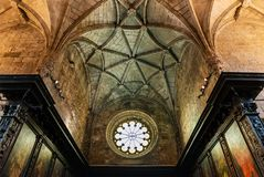 Coro de la iglesia del monasterio de Jeronimos Fotos de archivo