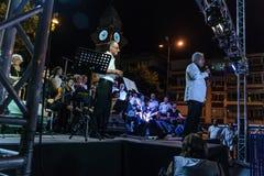 Coro de la música clásica del centro de enseñanza pública Foto de archivo