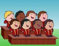 Coro de los niños Imagen de archivo libre de regalías