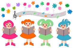 Coro de los niños Fotos de archivo
