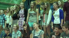 Coro de los niños 4K almacen de metraje de vídeo