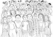 Coro dei bambini Fotografia Stock