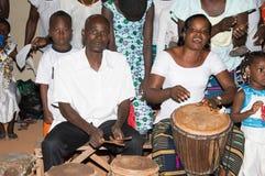Coro dei percussionisti Fotografia Stock