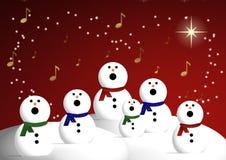 Coro dei pupazzi di neve Fotografia Stock Libera da Diritti