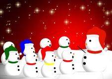 Coro del pupazzo di neve fotografie stock libere da diritti