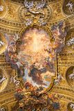 Coro della basilica IL Gesu, Roma, Italia Vista del soffitto Fotografia Stock