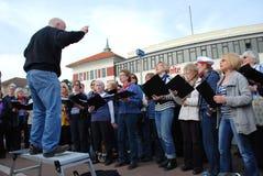 Coro della Comunità delle onde sonore, Hastings Fotografia Stock Libera da Diritti