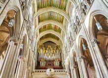 Coro di Almudena Cathedral Madrid, Spagna Fotografia Stock Libera da Diritti