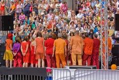 Coro do festival fotos de stock royalty free