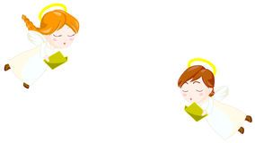 Coro dos anjos ilustração royalty free