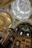 Coro e cupola della cattedrale di Valencia immagine stock libera da diritti