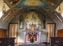 Coro ed altare della cappella italiana su Orkneys, Scozia Fotografia Stock Libera da Diritti