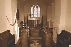 Coro ed altare della chiesa di vergine Maria benedetto a Somerset Fotografie Stock Libere da Diritti