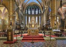 Coro ed altare di Matthias Church a Budapest, Ungheria Immagine Stock