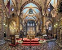 Coro ed altare di Matthias Church a Budapest, Ungheria Fotografia Stock Libera da Diritti