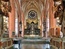 Coro ed altare di Storkyrkan (la grande chiesa) a Stoccolma, Svezia Fotografia Stock