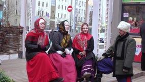 Coro nacional de Kuban en ciudad almacen de metraje de vídeo