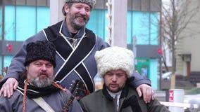 Coro nacional de Kuban en ciudad almacen de video