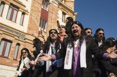 Coro nel carnevale di Cadice, Spagna fotografie stock libere da diritti