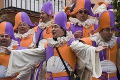 Coro nel carnevale di Cadice, Spagna Fotografia Stock Libera da Diritti