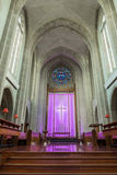 Coro nella vecchia cattedrale della trinità santa della parte, Auckland Immagine Stock