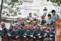 Coro no carnaval de Cadiz, Spain fotografia de stock